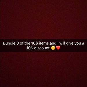 Bundle 3 items for 20$